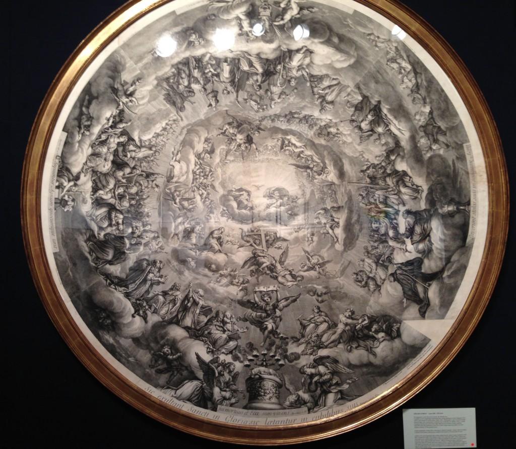 Coupole du Val de Grace - Paris 1693 - designed by Pierre Mignard - Engraved and Published by Audran Girard