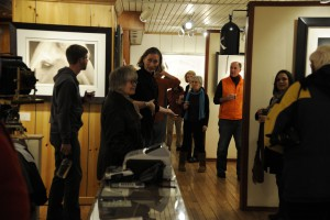 Over 40 people gathered for the photogravure talk at Brookover Gallery in Jackson