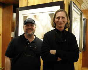 Printmaker Jon Lybrook and Photographer David Brookover